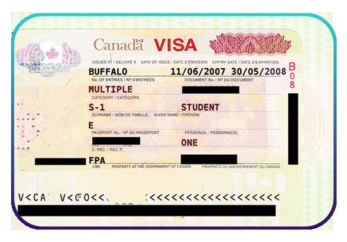 عکس ویزای تحصیلی کانادا